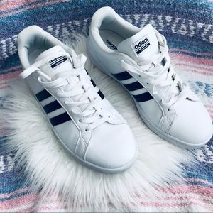 ADIDAS white and black sneakers Sz 11